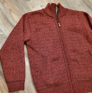 Mens HOW'ON zip up sweater